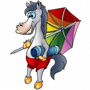 "Short sentence: ""Why is this image used? What message it supposed to convey?"". try to naturally include an SEO keyword to describe the image: E.g. ""Cartoon Horse on the beach with beach towel and sun umbrella"""
