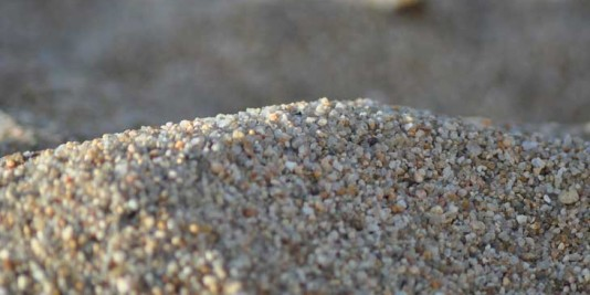 Grainy sand on one of the beaches along California's Highway One.