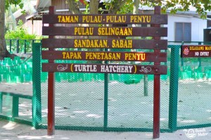 Turtle hatchery at Turtle Island (Pulau Selingan) in the Sulu Sea of Borneo. Photo by Beachmeter.com.