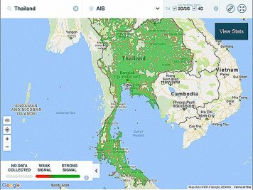 AIS Phone Signal Coverage Map Thailand