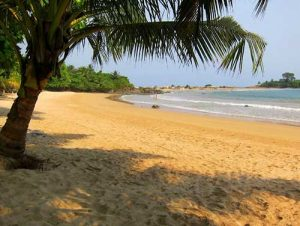 Ezile Bay Ecolodge beach at Akwidaa Western Region Ghana