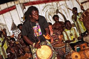 Oasis Beach Resort drumming in Ghana