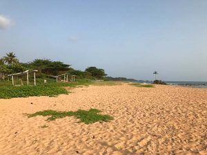 Empty beach at Escape3Points Ecolodge Ghana