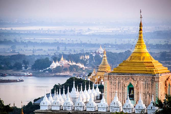 View from Mandalay hill in Myanmar