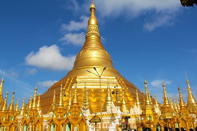 The magnificent temple of Shwedagon Paya in Myanmar
