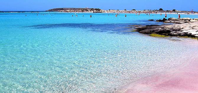 Elafonisi beach on Crete Island in Greece