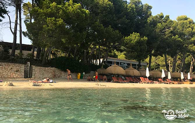 The family-friendly beach Playa de Formentor in Mallorca