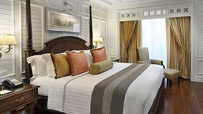 luxury hotel room at Dusit Thani Bangkok in Silom
